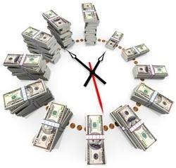 Часовник с пари